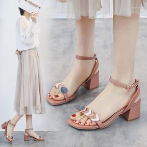 Summer Women Sandals Fashion Square Toe High Heels Buckle Strap High Heel Sandals Chaussures Femme Shoes Women1