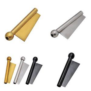 Cachimbos da tubulação do metal Snuff Vara de fumo 68 milímetros Durable cilíndrico prateado Ouro Preto Homem de Aço Inoxidável 13yh F2