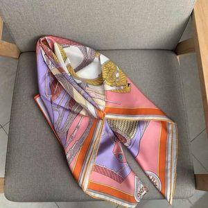 2020 Nueva llegada de la marca elegante marca 100% seda bufanda 90 * 90 cm cuadrado mantón hecho a mano envoltura de rollo para mujer Señora envío gratis