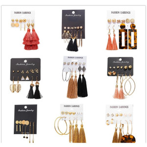 Boho Crystal Long Tassel Drop Earrings For Women Ethnic Geometric Rose Flower Sign Dangle Statement Earring 2019 Fashion Jewelry In P5Nyk