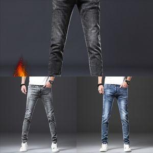 PZm UMMEWALO high outdoor quality Skull Printed Designer For Men Casual Slim jeans Jeans Jeans Red Straight Pants Mens Brand