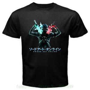 Новый Sao Sword Art Online * Кирито аниме мультфильм для мужчин Black T Shirt Размер S Для 3xl Забавный мальчик хлопка футболки спорт Толстовка с капюшоном Толстовка