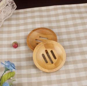 Rund Mini Seifenschale Trocknen Seifenhalter Kreative Umweltschutz natürliche Bambusseifenhalter DHL-freies LXL1206DXP