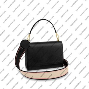 M57050 Women Clutch Purse MM Top Handle Strap Leather Embroidered Crossbody Handbag Genuine Messenger Evening Shoulder Bag Orwus