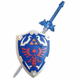 1: 1 gioco Legend of Zelda link Sky Shield e Sky Sword Cosplay PU Props Cos arma Halloween arma cosplay del Organizzi i puntelli giocattoli 201021