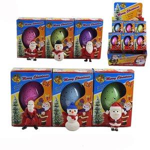 Magie Wunderbare Wachsende Weihnachts Ei Weihnachtsmann Schneemann Aufgeblasen Osterei pädagogisches Spielzeug Neuheit Weihnachten Kinder Geschenk 6 Farben C2043