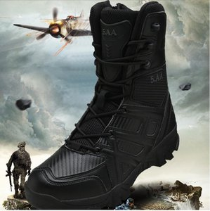 Men's motorcycle riding mid-tube high-top boots field combat tactical army fan boots desert commuter leather waterproof boots
