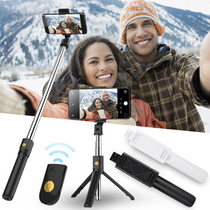 AUYTECH New New PortableTripod Phone Camera With Wireless Bluetooth Remote Self-Timer Artifact Rod For IOS Andriod Phones Gopro Camera
