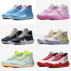 Hot Kevin Durant KD XII 12 Aunt Pearl White Ink Splashing Ink All Stars Kids Basketball Shoes For Mens 12s Sports Sneakers Shoes