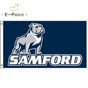 NCAA Samford Бульдоги Флаг 3 * 5 футов (90 см * 150см) Полиэстер Флаг Баннер Украшение Летающий Главная Сад Флаг Праздничные подарки