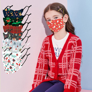 Designer 2020 Natal pano cara Máscara PM2.5 filtro Máscara de algodão lavável Winter Party moda infantil lumious