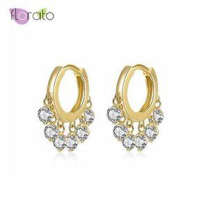 Высокое качество 925 стерлингового серебра маленький обруч серьги для женщин золото серебро цвет серьги мода ювелирные изделия 2020