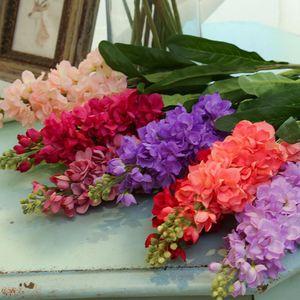 Zooyoo 80cm Hyacinto de flor de seda artificial con bombilla Planta en maceta Inicio Oficina Jardín Decoración de la boda Flores 1pc