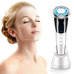 EMS LED Photon Therapy Sonic Vibration Wrinkle Remover Hot Cool Treatment Anti Aging Skin Cleaner Cleansing Rejuvenation Ma OEM FCC Rohs FDA