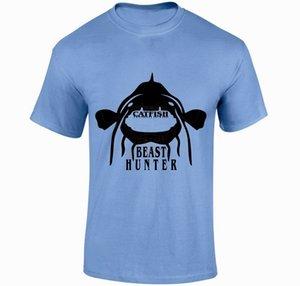 Сома BEAST HUNTER Tshirt Карп Окунь Bass Fishing Angling снасть Малый XXL Slim Fit Plus Размер T-Shirt спорта Толстовка с капюшоном Hoodie