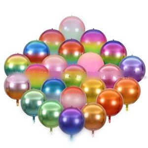 22 Zoll Regenbogen Ballons Gradient Farbe Aluminium Film Faltenballon für Geburtstag Hochzeit Dekoration Supplies 1 8JE E19