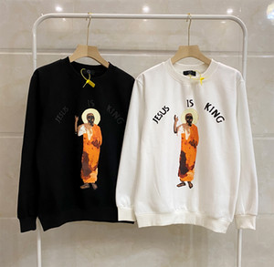 2020 Top Qaulity Men kanye west Hoodies Cotton Print Long Sleeve Hoodie Mens Jesus Is King Fleece Winter Hoodies Asian Size:M-XXL