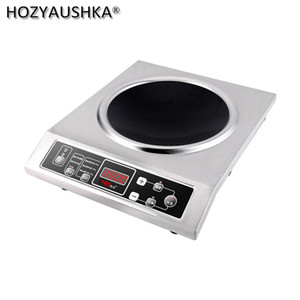 Induction Cookers Commercial Cooker 3500 WaHigh Power Stainless Steel Concave El Restaurant