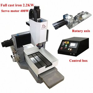 Full cast iron cnc 3040 router metal engraving milling machine 2200w 4axis servo motor Z axis height 250mm off-line control 54Di#