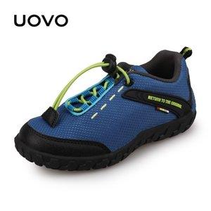 UOVO Детский гоночный стиль дышащий для маленьких мальчиков девочек детей кроссовки осенние туфли EUR28-35 201124