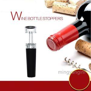 Reusable Wine Stopper, Vacuum Wine Preserver Leak-free Wine Bottle Sealer Silicone Caps, Air Remover Corks- Black MY-inf0496