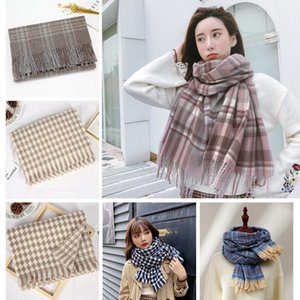 2021 keep warm Imitation cashmere color checkered scarf women fashion autumn winter new warm shawl neck