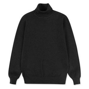 2020 Streetwear Maglione Uomo Casual Autunno Inverno Turtelneck maglione maschile Abbigliamento Harajuku Uomo Pullover nero XXXL