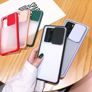 Hot Sale Wholesale Fashion Slide Camera Lens Protection Shockproof Phone Case Soft TPU Matte Back Cover For Huawei
