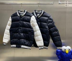 2020 designer custom high-end down jacket men's spiral pattern baseball collar sports casual wear warm men's jacket trend