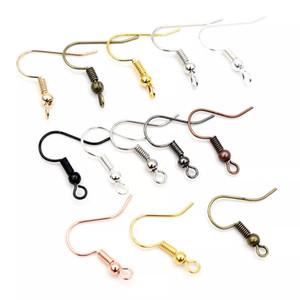 100pcs lot 20x17mm DIY Earring Findings Earrings Clasps Hooks Fittings DIY Jewelry Making Accessories Iron Hook Earwire Jewelry