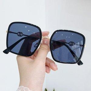 Round European American Anti-blaue Retro Gezeiten Sonnenbrille Gesicht und Frauen-Sonnenbrille Licht Anti-UV-Aswpo