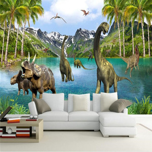 beibehang 3D Stereo Large Murals Jurassic era dinosaurs wall murals wallpaper for living room sofa bed bedroom wall paper
