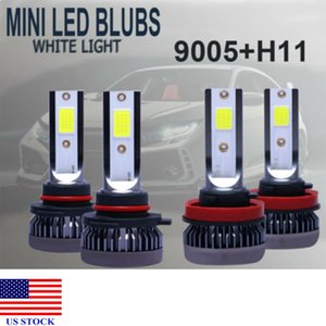 MINI 9005+H11 Combo LED Headlight Bulbs Fog Lights Conversion Kit High Low Beam White A0029 US STOCK Fast Delivery