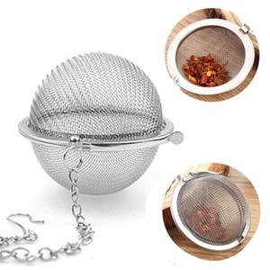 Stainless Steel Tea Pot Infuser Sphere Mesh Tea Strainer Filler Ball Strainer Ball 4CM 4.3CM 5CM OWF2266