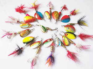 Wholesale 30pcs Fishing Spinner Lures Kit Crankbait Rooster Tail Spoon Bass Trout Walleye 4.5g