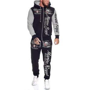 Para hombre ropa de los sistemas sudaderas y pantalones Set de 2 unidades de calentamiento para hombre de las señoras impresas Mismo vestido traje de hombre de chándal