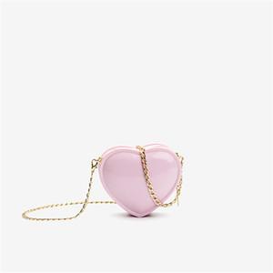 Bolso de mujer en forma de corazón VERANO PEQUEÑO BOLSA 2020 Nueva cadena de moda linda Pequeña pequeña mujer bolsa de cuerpo de un hombro # JZ25-39