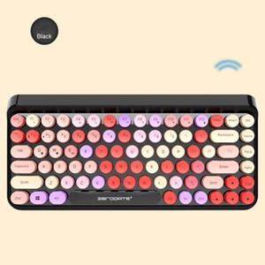 Teclado sem fio Bluetooth Silent clique retro Bluetooth 3.0 teclado para portátil portátil portátil sem fio