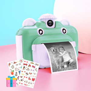 Instant Print Camera for Children Toys Rotatable Lens 1080P HD Timed Photo Kids Camera with Print Thermal Photo 32GB TF Card 1020
