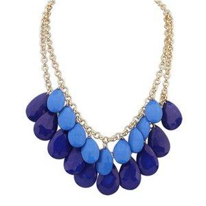 Collares Colgantes Collares de Moda Joyería de Moda Rhinestone Vintage Cristal Drop Belly Declaración Collares 125 m2