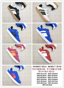Children's running sneakers Velcro casual sneakers sport size 23-35 Kids boys girls red blue black white casual board shoes