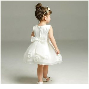 0-24m Newborn Infant Baby Girls Dress Princess White Tulle Tutu Party Wedding Birthday Dresses For Girls Bapti jlllyx