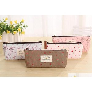 2018 school canvas pencil cases pencil pouch zipper lovely cosmetic bags office buggy bag pencil case 9CkuM