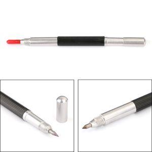 Areyourshop Home Sompies doppelt beendete Wolframkarbid Scribing Stift Tipp Stahl Scriber Scribe Marker Metallwerkzeug Elektrische Geräte Teile