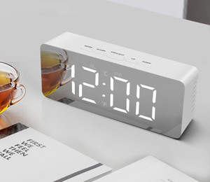 CG5 LED digital travel sleepy alarm clock dimming touch easy storage magnet electronic clock large screen silicone sound control clock