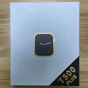 Wholesale T500 Plus Bluetooth Smartwatch Smartwatch Sport Digital Smart Watch Smart Orologio da 1,54 pollici grande quadrante elettronico multilingue Spedizione gratuita
