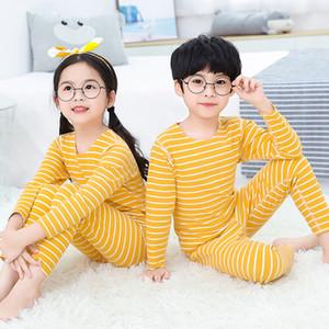 Kids Pajamas Set Autumn Winter Boys Girls Sleepwear Cation Nightwear Baby Infant Pajama Sets Children Pyjamas Thermal Underwear