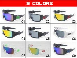 الأزياء 9 ألوان في نظارات نظارات ركوب الدراجات شعار الرجال uv400 نظارات تسلق ركوب الدراجات التزلج الرجال نظارات الرياضة الحماية النظارات GVIS