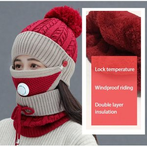 New Women's Windproof And Breathable Cycling Cap Cold Proof Ear Collar Beanies Good Elasticity And Comfortable Warmer