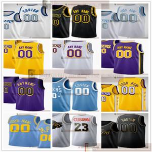 Пользовательские 2021 напечатанные баскетбол Джеймс Район Алекс 9 Рондо 4 Caruso Quinn Javale Cook 7 Mcgee Caldwell-Pope Jared 11 Avery 10 Dudley Jerseys